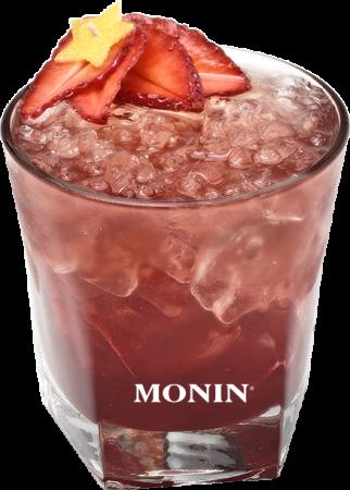 Veilchen-Erdbeer Fancy Drink
